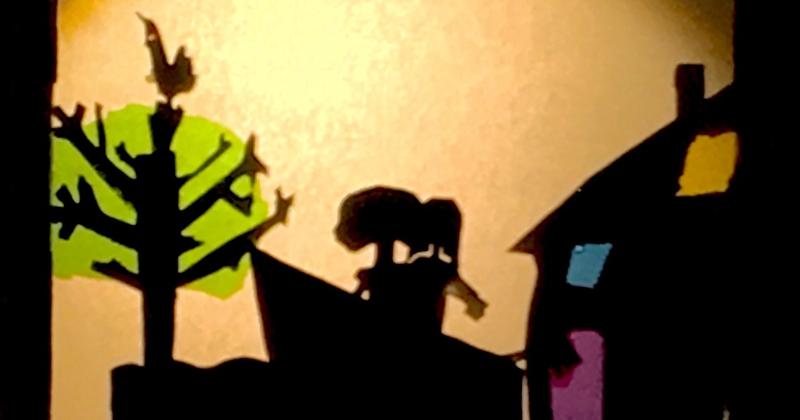 Kinderboeken week  thema verbeelden in Magisch Schaduw-Theater.