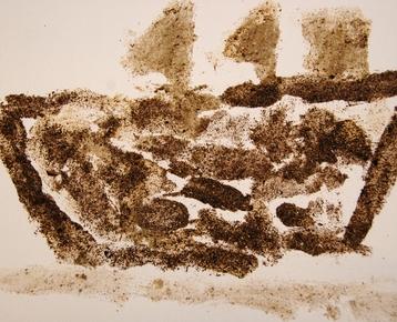 Afbeelding 3 Schilderen met koffie, zand, zeewier en verf....in ieder gewenst thema.