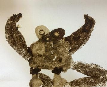 Afbeelding 5 Schilderen met koffie, zand, zeewier en verf....in ieder gewenst thema.