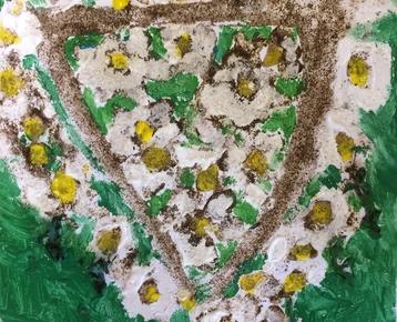 Afbeelding 6 Schilderen met koffie, zand, zeewier en verf....in ieder gewenst thema.