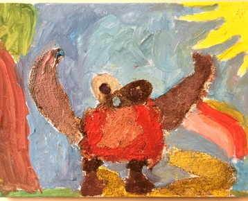 Afbeelding 8 Schilderen met koffie, zand, zeewier en verf....in ieder gewenst thema.