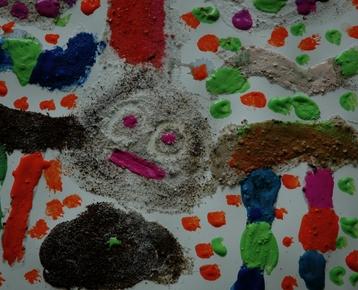 Afbeelding 2 Schilderen met koffie, zand, zeewier en verf....in ieder gewenst thema.