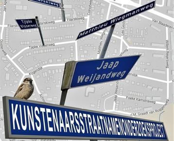 Afbeelding 10 Kunstenaarsstraatnamen Bergen:  wie is dat van die weg?