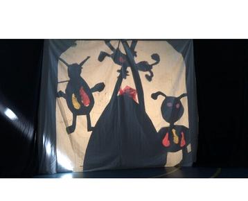 Afbeelding 1 Kinderboeken week  thema verbeelden in Magisch Schaduw-Theater.