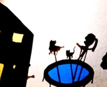 Afbeelding 5 Kinderboeken week  thema verbeelden in Magisch Schaduw-Theater.