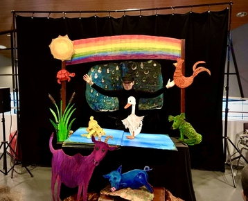 Afbeelding 5 Theater in de klas met  prentenboek voorstelling en workshop