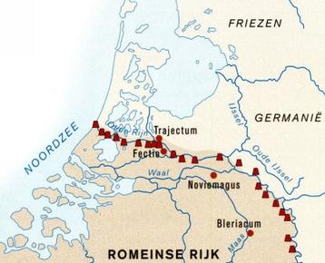 Afbeelding 1 Romeinse limes: Handel rondom de natuurlijke grens